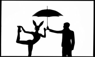 Tyler Shields, 'The Bunny and the Man ', 2020