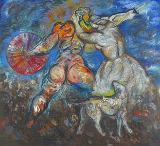 Sandro Chia, 'Der Hund und sein Meister', 1983