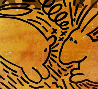 Futura, 'Keith Haring vinyl record art (Keith Haring Futura)', 1983