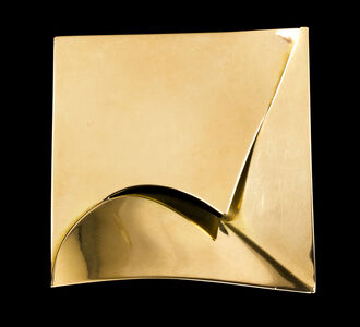 Carlo Lorenzetti, 'Square and gold-shaped brooch', 1989