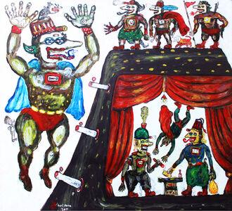 Heri Dono, 'The Negotiating Guards', 2011