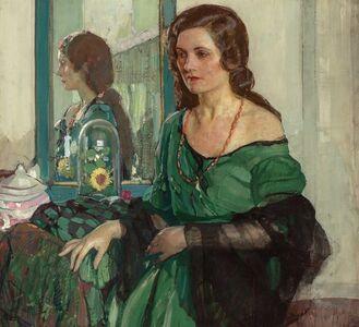 Richard Edward Miller, 'Lady in Green', circa 1932