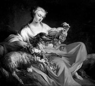 Jean Baptiste Marie Pierre, 'The Favorite Lamb (Le Mouton Favori)', ca. 1758