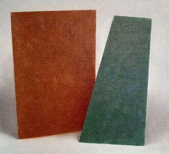 Enn Erisalu, 'Floating Forms 2 (Brown Green)', ca. 1986