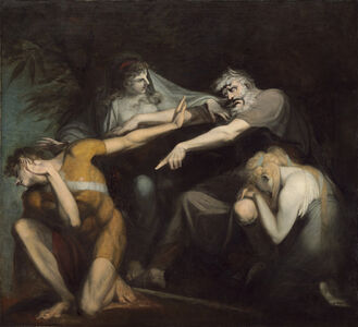Henry Fuseli, 'Oedipus Cursing His Son, Polynices', 1786