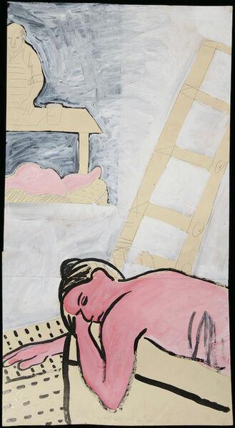 Joan Brown, 'Model in Studio with Ladder', 1974