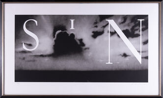 Ed Ruscha, 'Ed Ruscha Sin-Without Signed Lithograph Contemporary Art', 2002