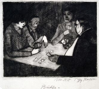 Peggy Bacon, 'The Bridge Party', 1918