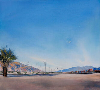 Don Stinson, 'All in Good Time, Train Station: Palm Springs, CA', 2017