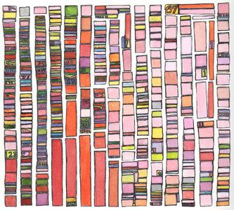Laurie Frick, 'Portrait Test Pattern Pink', 2014