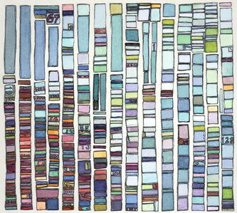 Laurie Frick, 'Portrait Test Pattern Blue', 2014