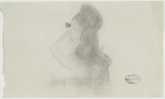 "Mary Cassatt, ' WOMAN WITH OPERA GLASSES (STUDY FOR ""AT THE OPERA"").', ca. 1878"