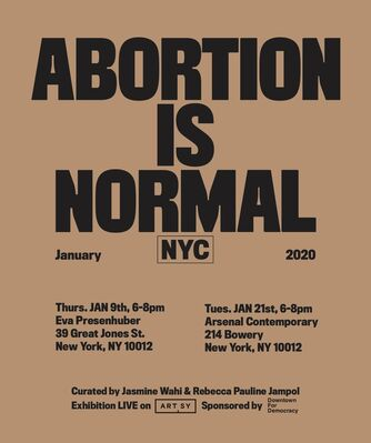 Abortion is Normal, installation view