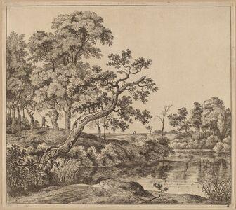 Jan Hackaert, 'Landscape with a Bending Tree'