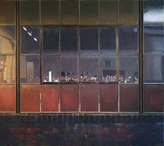 John Moore (b.1941), 'Night Studio in Frankford', 2015
