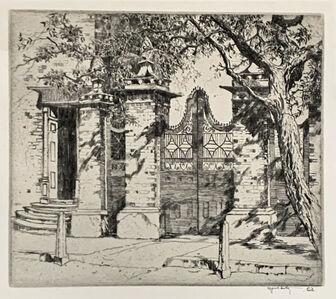 Alfred Hutty, 'SMYTH GATE', 1927
