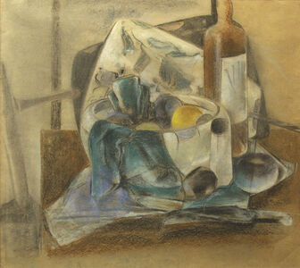 Preston Dickinson, 'Still Life, Fruit and Wine', 1926-1927