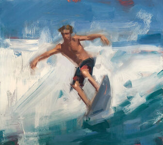David Shevlino, 'Surfing', 2017