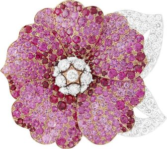 Van Cleef and Arpels, 'Hibiscus clip. Unique piece, High Jewelry Collection', 2017