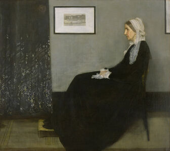 James Abbott McNeill Whistler, 'Arrangement in grey and black No. 1 (Whister's Mother)', 1871
