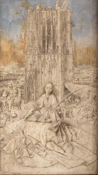Jan van Eyck, 'Saint Barbara', 1437