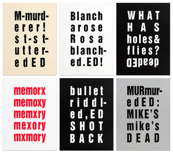 Kay Rosen, 'The Ed Prints (Surprise, Technical Difficulties, Spit-it Out, Blanks, Ed-Ed)', 1992
