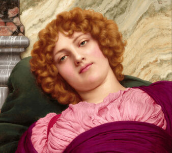 John William Godward, 'Myrhinna', 1915