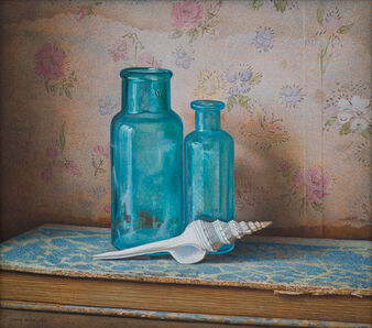 John Whalley, 'Blue Bottles', 2019