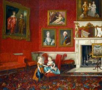 Johann Joseph Zoffany, 'George, Prince of Wales, and Frederick, later Duke of York, at Buckingham House', 1765