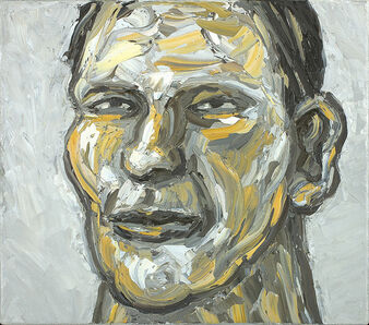 Peter Booth, 'Painting (head, white background)', 2010