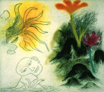 Ken Kiff, 'Walking Past Rocks and Flowers', 1996