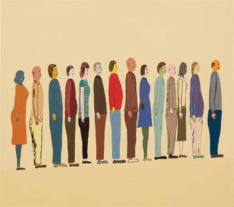 Chris Johanson, 'Untitled (Row of People)', 2002