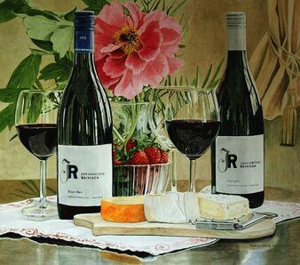 Ingeborg Haeberle, 'Wine and Cheese II ', 2013