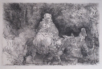 The Flight into Egypt, Crossing Over a Creek