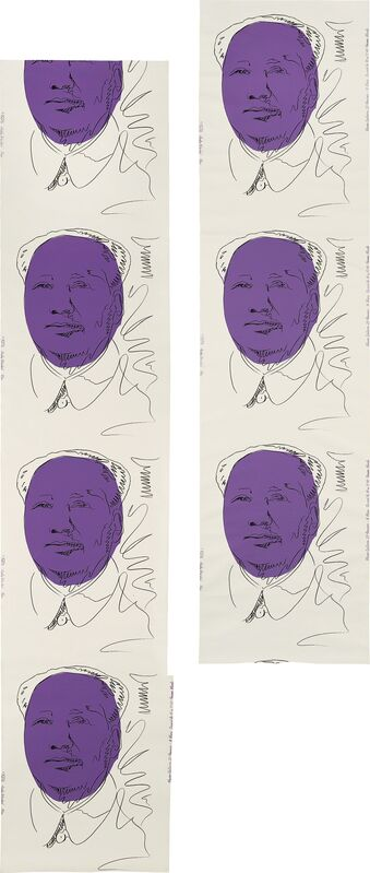 Andy Warhol, 'Mao (wallpaper), two rolls', 1974, Print, Two screenprints in colors, on two lengths of wallpaper., Phillips