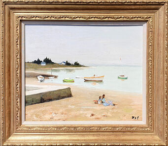 Marcel Dyf, 'Boating along the Shore, Brittany', 20th Century