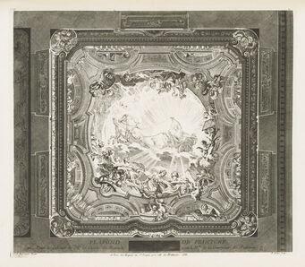 Juste-Aurèle Meissonnier, 'Plafond du même cabinet, 4th Plate', 1740