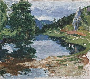 Gabriele Münter, 'Landschaft bei Kallmünz (Landscape near Kallmünz)', 1903