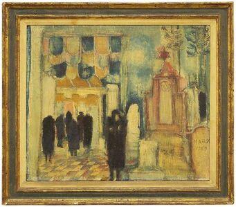 Marcia Marx, 'Synagogue, Mid Century Judaica Oil Painting', 20th Century