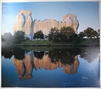 "Christo and Jeanne-Claude, '""Wrapped Reichstag"" Project, Offset Color Lithographic Poster LARGE', 1995"