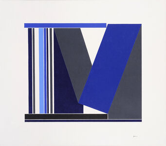George Johnson, 'Blue & Grey Structure', 1989