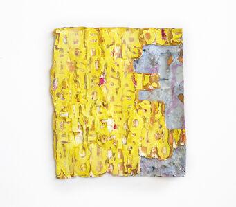 Nitzan Mintz, 'Yellow on Blue', 2019