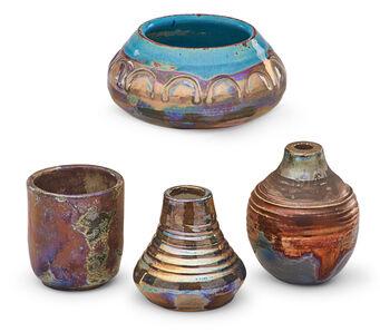 Pewabic Pottery & Ceramics, 'Four cabinet vases'