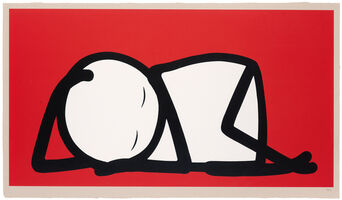 Stik, 'Sleeping Baby (Red)', 2015