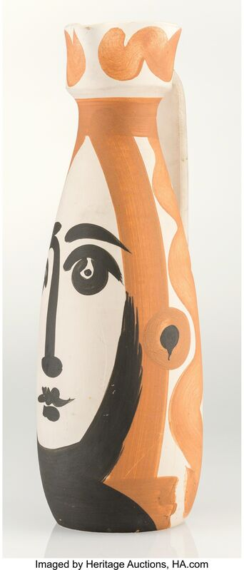 Pablo Picasso, 'Visage', 1955, Other, White earthenware ceramic pitcher with handpainting and partial glazing, Heritage Auctions