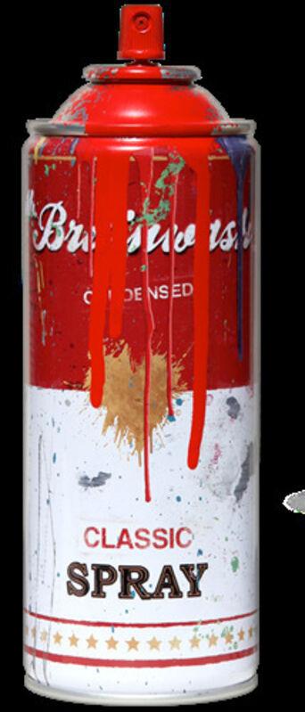 Mr. Brainwash, 'MR BRAINWASH RED SPRAY CAN', 2013, Sculpture, Metal Spray Can (empty no gas or liquid), Arts Limited