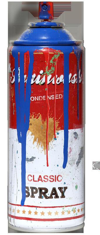 Mr. Brainwash, 'Tomato Spray Can (Blue)', 2013, Sculpture, Spray paint on steel spray can, Imitate Modern