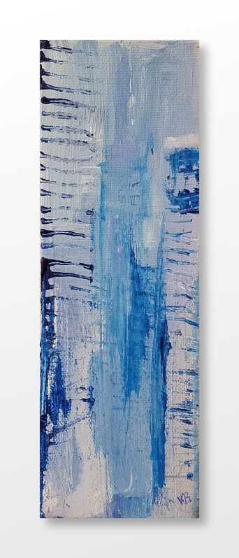 Vian Borchert, 'City Stripes At Dusk', 2020, Painting, Acrylic on canvas, bG Gallery