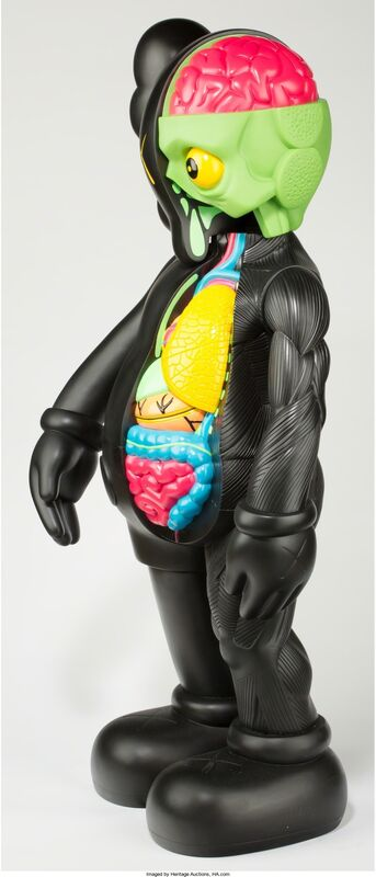 KAWS, '4 foot dissected companion (black)', 2009, Other, Vinyl, Heritage Auctions