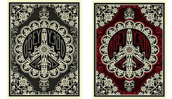 Shepard Fairey, 'Peace Bomber (set of 2)', 2008